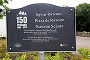 Patagonia Welsh colony memorial, Rawson Square, Blaenau Ffestiniog, Gwynedd, north Wales, UK
