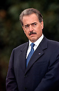 Colombian President Andres Pastrana during arrival ceremonies on the South Lawn of the White House October 28, 1998 in Washington DC.