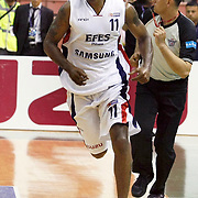Efes Pilsen's Bootsy THORNTON during their Turkish Basketball league Play Off Final second leg match Efes Pilsen between Fenerbahce Ulker at the Ayhan Sahenk Arena in Istanbul Turkey on Saturday 22 May 2010. Photo by Aykut AKICI/TURKPIX