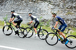 Bernhard Eisel (AUT) of Team Dimension Data, Mark Cavendish (GB) of Team Dimension Data and Luka Mezgec (SLO) of Orica - Scott during Stage 1 of 24th Tour of Slovenia 2017 / Tour de Slovenie from Koper to Kocevje (159,4 km) cycling race on June 15, 2017 in Slovenia. Photo by Vid Ponikvar / Sportida