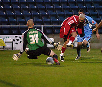 Photo: Matt Bright/Sportsbeat Images.<br /> Wycombe Wanderers v Swindon Town. The FA Cup. 10/11/2007.<br /> Christian Roberts scores for Swindon Town