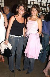 Left to right, MISS CAROLINE SHASHA and MISS AMBER NUTTALL at a party in association with the Hurlingham Polo Association and AJM International publishing to celebrate the forthcoming Cartier International Polo day held at The Collection, 264 Brompton Road, London on 20th July 2004.