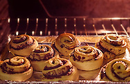 Cinnamon rolls bake in the oven, January 18, 2016, in Coden, Alabama. Cinnamon was such a prized spice that centuries ago, it was often given as a gift to monarchs and gods. (Photo by Carmen K. Sisson/Cloudybright)