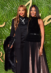 Valerie Morris and Naomi Campbell attending the Fashion Awards 2017, in partnership with Swarovski, held at the Royal Albert Hall, London. Picture Date: Monday 4th December, 2017. Photo credit should read: Matt Crossick/PA Wire