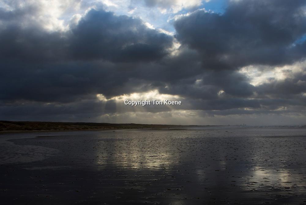 clouds at the dutch beach