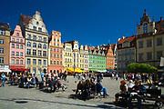 Rynek we Wrocławiu, Polska<br /> Market place in Wrocław, Poland