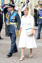 Sophie, Countess of Wessex (right) and Prince Edward, Earl of Wessex during the RAF Centenary at Buckingham Palace, London. Photo credit should read: Doug Peters/EMPICS