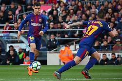 March 18, 2018 - Barcelona, Spain - Philippe Coutinho during the match between FC Barcelona and Athletic Club, played at the Camp Nou Stadium on 18th March 2018 in Barcelona, Spain. (Credit Image: © Joan Valls/NurPhoto via ZUMA Press)