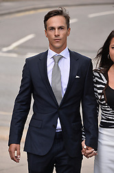 © Licensed to London News Pictures. 21/08/2019. London, UK. Ryder Cup winner Thorbjorn Olesen appears at court charged with sexual assault, being drunk on an aircraft and common assault. The Danish professional golfer was arrested Monday July 29 after returning from the WGC St Jude Invitational on a flight from Nashville to London. Photo credit: Ray Tang/LNP