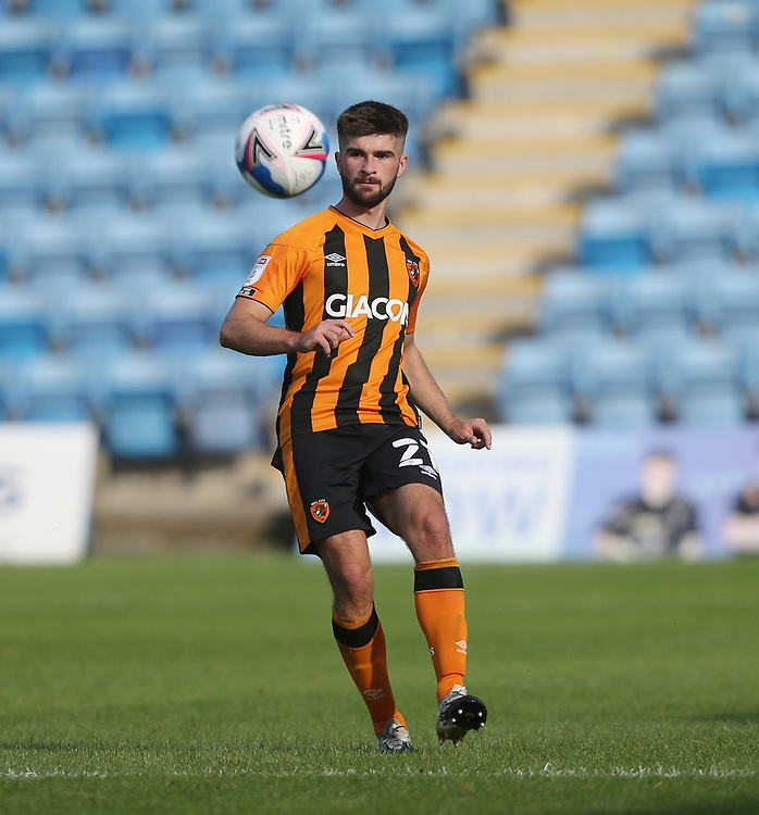 Hull City's Brandon Fleming<br /> <br /> Photographer Rob Newell/CameraSport<br /> <br /> The EFL Sky Bet League One - Gillingham v Hull City - Saturday September 12th 2020 - Priestfield Stadium - Gillingham<br /> <br /> World Copyright © 2020 CameraSport. All rights reserved. 43 Linden Ave. Countesthorpe. Leicester. England. LE8 5PG - Tel: +44 (0) 116 277 4147 - admin@camerasport.com - www.camerasport.com