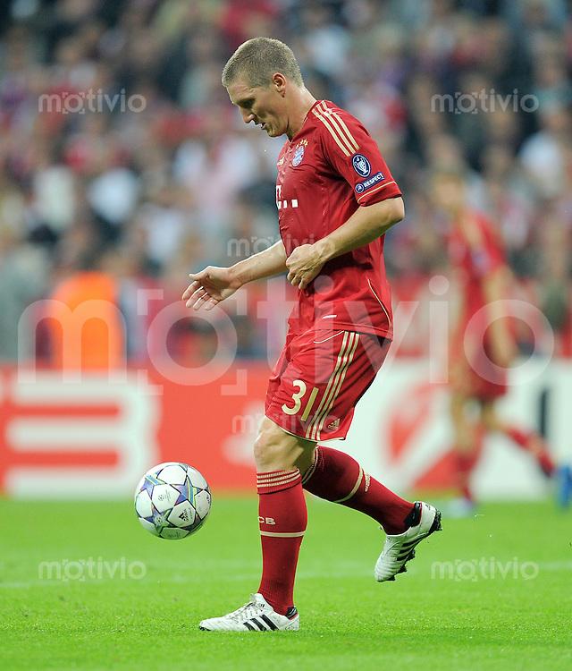 FUSSBALL   CHAMPIONS LEAGUE   SAISON 2011/2012     27.09.2011 FC Bayern Muenchen - Manchester City FC Bastian Schweinsteiger (FC Bayern Muenchen)