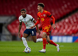 LONDON, ENGLAND - Thursday, October 8, 2020: Wales' Ethan Ampadu during the International Friendly match between England and Wales at Wembley Stadium. The game was played behind closed doors due to the UK Government's social distancing laws prohibiting supporters from attending events inside stadiums as a result of the Coronavirus Pandemic. England won 3-0. (Pic by David Rawcliffe/Propaganda)