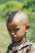 Ethiopia, Gondar portrait of a young boy