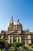 Plaza de la Liberacion with Metropolitan Cathedral (Catedral Metropolitana) in the background, in the historic Center of Guadalajara, Jalisco, Mexico