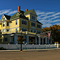 """""""Windermere Hotel""""<br /> <br /> The lovely and scenic Windermere Hotel located on Michigan's Mackinac Island!!<br /> <br /> Architecture: Structures and buildings by Rachel Cohen"""
