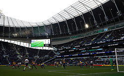 A general view of the match action during the U18 Premier League test event match at Tottenham Hotspur Stadium, London.