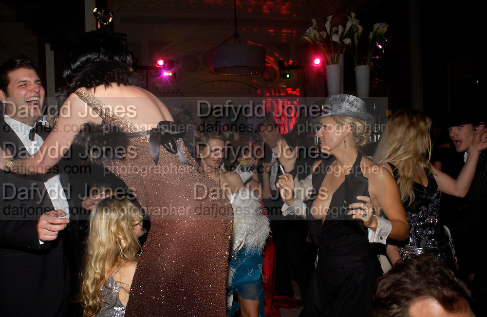 Diana Jenkins ( hat) . Andy & Patti Wong's Chinese New Year party to celebrate the year of the Rooster held at the Great Eastern Hotel, Liverpool Street, London.29th January 2005. The theme was a night of hedonism in 1920's Shanghai. . ONE TIME USE ONLY - DO NOT ARCHIVE  © Copyright Photograph by Dafydd Jones 66 Stockwell Park Rd. London SW9 0DA Tel 020 7733 0108 www.dafjones.com