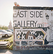 Art work on the remnants of the Berlin Wall, Berlin, Germany