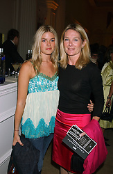Left to right, MISS ISABELLA ANSTRUTHER-GOUGH-CALTHORPE and her mother LADY MARY GAYE CURZON at a evening to celebrate the unveiling of the British Luxury Club at The Orangery, Kensington Palace, London W8 on 16th September 2004.<br />