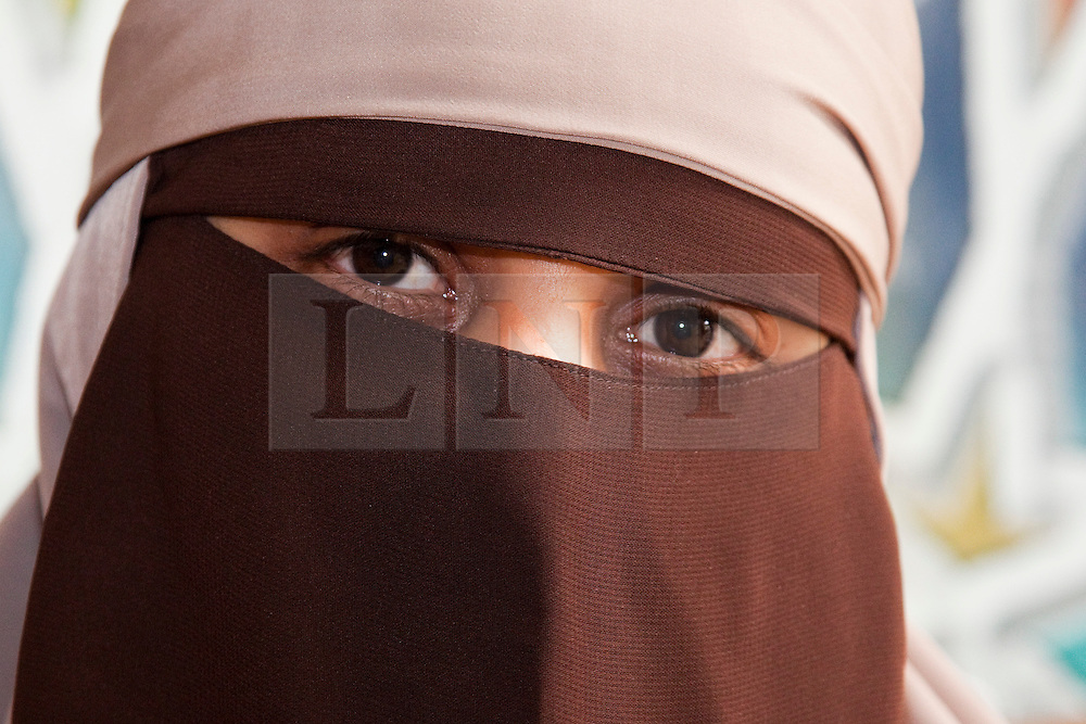"""© under licence to London News Pictures. 21/05/2011. London,UK. KENZA DRIDER, the French woman who recently defied the Niqab, full veil, ban in France.  She was arrested by the French Police for refusing to take off her full veil in public. Pictured Appearing at conference """"Confronting Anti-Muslim Hatred in Britain and Europe"""" at the London Muslim Centre in Whitechapel today (21/05/2011). Photo credit should read BETTINA STRENSKE/LNP"""