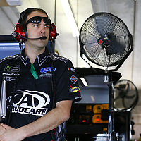 February 23, 2018 - Hampton, Georgia, USA: The crew chief for Trevor Bayne (6) hangs out in the garage during practice for the Folds of Honor QuikTrip 500 at Atlanta Motor Speedway in Hampton, Georgia.