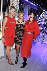 Left to right, NADJA SWAROVSKI, HOFIT GOLAN and JASMINE GUINNESS at a reception to celebrate the launch of 'A Crystal Christmas'  - inspired by Swarovski and held at Harrods, Knightsbridge, London on 8th November 2011.  Following the reception a private dinner was held at One Hyde Park, Knightsbridge.