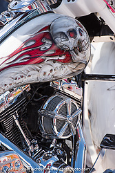 Bagger at the Boardwalk bike show during Biketoberfest. Daytona Beach, FL, USA. Thursday October 19, 2017. Photography ©2017 Michael Lichter.