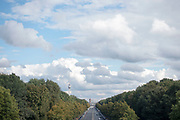 A view of of Straße des 17. Juni along Tiergarten park as seen from the Victory Column (Siegessäule) in Berlin, Germany, October 02, 2016.