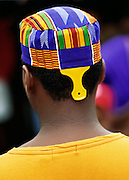 NJ, Holmdel, (Garden State Arts Center), Boy at African American festival at PNC Arts Center