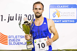 Amel Tuka of Bosnia and Herzegovina after he won at 800m Men during 20th European Athletics Classic Meeting in Honour of Miners' Day in Velenje on July 1, 2015 in Stadium Velenje, Slovenia. Photo by Vid Ponikvar / Sportida
