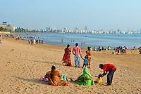 Inde, Maharashtra, Mumbai (Bombay), Chowpatty beach// India, Maharashtra, Mumbai (Bombay), Chowpatty beach
