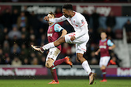 Daniel Sturridge of Liverpool takes a shot at goal. The Emirates FA cup, 4th round replay match, West Ham Utd v Liverpool at the Boleyn Ground, Upton Park  in London on Tuesday 9th February 2016.<br /> pic by John Patrick Fletcher, Andrew Orchard sports photography.