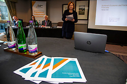 Pictured:Chair Dame Susan Rice DBE<br /> <br />  Members of the Scottish Fiscal Commission outlined forecasts that inform Scottish Government budget proposals in Edinburgh today.  Chair Dame Susan Rice DBE, was joined by commissioner Professor David Ulph CBE FRSE, Chief Executive John Ireland and Claire Murdoch Head of Devolved Taxes and Social Security at the publication of the February 2020 report