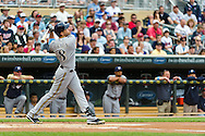 Milwaukee Brewers left fielder Ryan Braun bats against the Minnesota Twins at Target Field in Minneapolis, Minnesota on June 17, 2012.  The Twins defeated the Brewers 5 to 4 in 15 innings.  The game was the longest in Target Field history.  © 2012 Ben Krause