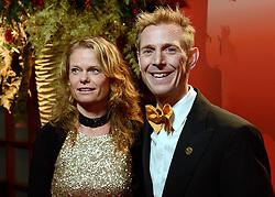 17-12-2013 ALGEMEEN: SPORTGALA NOC NSF 2013: AMSTERDAM<br /> In de Amsterdamse RAI vindt het traditionele NOC NSF Sportgala weer plaats. Op deze avond zullen de sportprijzen voor beste sportman, sportvrouw, gehandicapte sporter, talent, ploeg en trainer worden uitgereikt / Jochem Uytdehaage met partner Danielle Mouissie <br /> ©2013-FotoHoogendoorn.nl