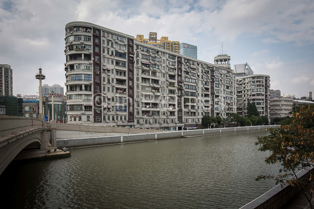 A view of Sir Victor Sassoons Embankment House in Shanghai, China on September 21, 2014. Sassoon was a jewish tycoon that left a series of buildings that once dominated the city of Shanghai in the 1920s and 30s.