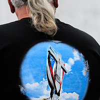 A visitors to the Flight 93 National Memorial near Shanksville, Pennsylvania shirts honors the memory of the victims of the terrorist attacks 13 years on September 11, 2014.  UPI/Archie Carpenter