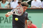 Roland Garros. Paris, France. May 30th 2012.Swiss player Roger FEDERER against Adrian UNGUR.
