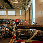 Flight spares ready for shipping to Cyprus in the hangar of the Red Arrows, Britain's RAF aerobatic team.