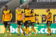 Goal 2-1 Willy Boly (15) of Wolverhampton Wanderers scores a goal and celebrates during the Premier League match between Wolverhampton Wanderers and West Bromwich Albion at Molineux, Wolverhampton, England on 16 January 2021.