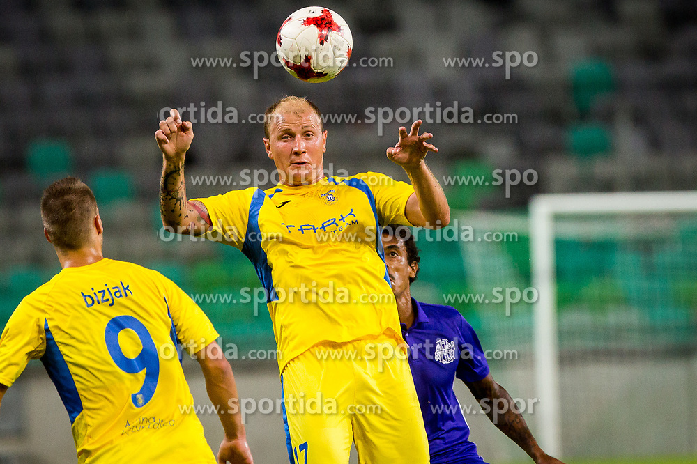 Senijad Ibricic of NK Domzale during football match between NK Domzale and Olympique de Marseille in First game of UEFA Europa League playoff round, on August 17, 2017 in SRC Stozice, Ljubljana, Slovenia. Photo by Ziga Zupan / Sportida