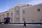 Samara, Russia, 25/02/2005..The Samara Electroschit {Electroshield] plant, one of Russia's leading electrical engineering companies. Main adminstration building.
