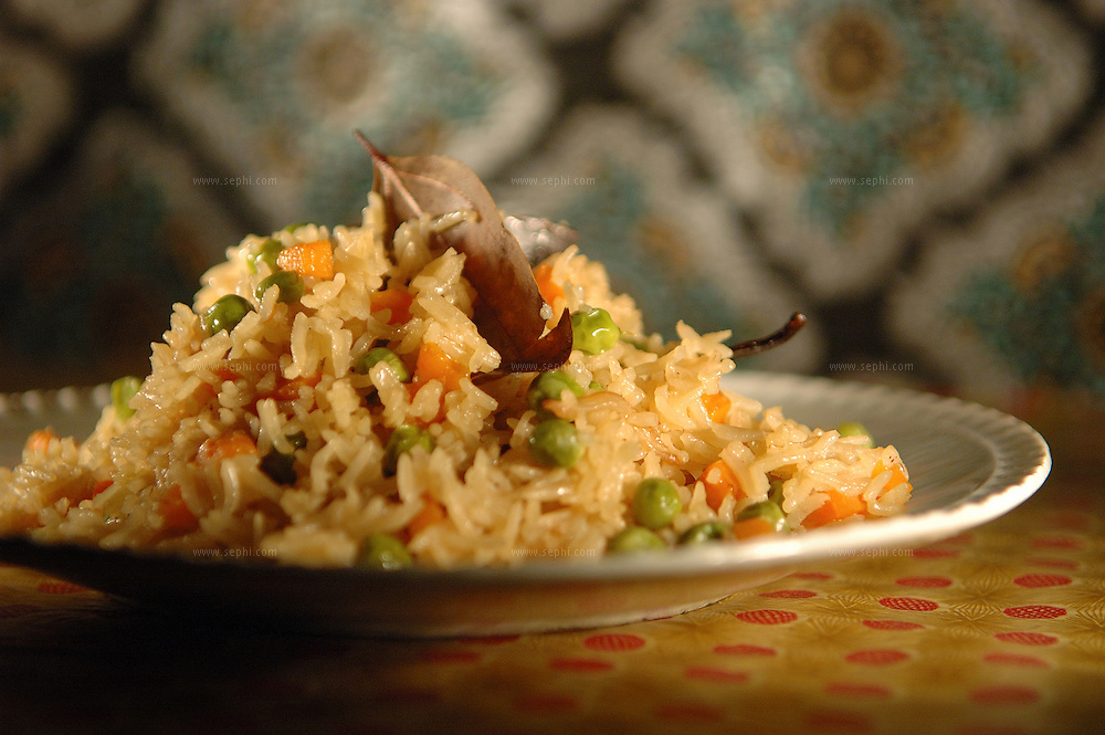 Pulao rice - Basmati rice with vegetables  ( Recipe available upon request )
