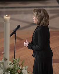 """Renee Fleming sings """"Danny Boy"""" as the musical reflection at the memorial service for the late United States Senator John S. McCain, III (Republican of Arizona) in the Washington National Cathedral in Washington, DC, USA on Saturday, September 1, 2018. Photo by Ron Sachs/CNP/ABACAPRESS.COM"""