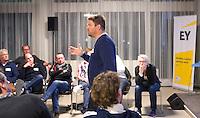 DEN HAAG - Bondscoach Max Caldas. KNHB Technisch Kader Congres ' Coach the game' bij EY in Den Haag. FOTO KOEN SUYK