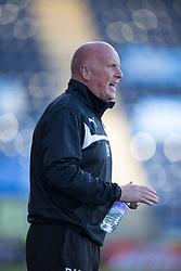 Falkirk's manager Peter Houston.<br /> Falkirk 2 v 1 Alloa Athletic, Scottish Championship game played 4/10/2014 at The Falkirk Stadium.