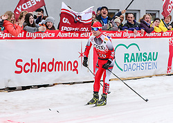 23.03.2017, Ramsau am Dachstein, AUT, Special Olympics 2017, Wintergames, Langlauf, Finale 500 m Freestyle, im Bild Andreas Kollmann (AUT) // Andreas Kollmann of Austria during the Cross Country Final 500 m Freestyle at the Special Olympics World Winter Games Austria 2017 in Ramsau am Dachstein, Austria on 2017/03/23. EXPA Pictures © 2017, PhotoCredit: EXPA / Martin Huber