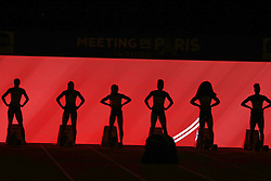 February 7, 2018 - Paris, Ile-de-France, France - Athletes compete in 60m during the Athletics Indoor Meeting of Paris 2018, at AccorHotels Arena (Bercy) in Paris, France on February 7, 2018. (Credit Image: © Michel Stoupak/NurPhoto via ZUMA Press)