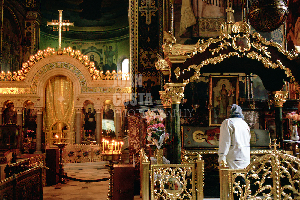 Ukraine.Kiev. Interior of Vladiminsky Cathedral.<br /> <br /> © JOAN COSTA