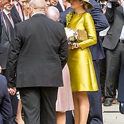LUX/Luxemburg/20180523 - Staatsbezoek Luxemburg dag 1 , Koningin Maxima en Groothertogin Maria Teresa  stellen de Nederlandse delegatie voor
